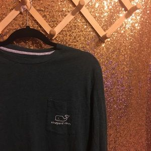 Vineyard Vines Long Sleeve Tee Shirt Hunter Green